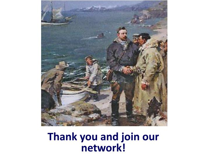 Thank you and join our network!