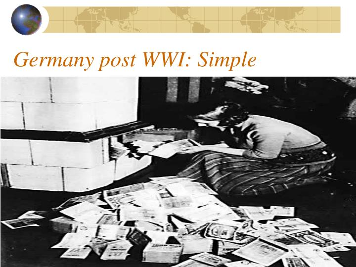 Germany post WWI: Simple