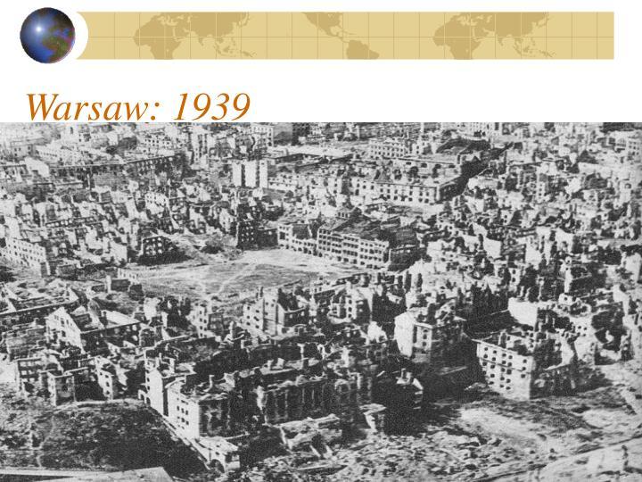 Warsaw: 1939