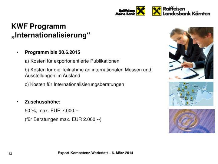 KWF Programm