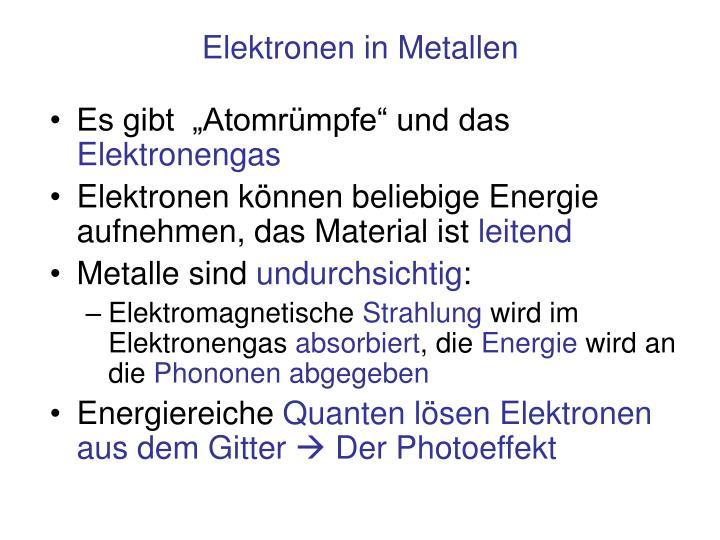 Elektronen in Metallen
