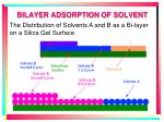 bilayer adsorption of solvent