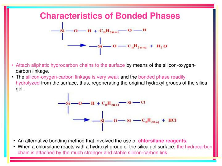 Characteristics of Bonded Phases