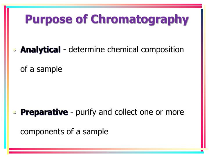 Purpose of Chromatography