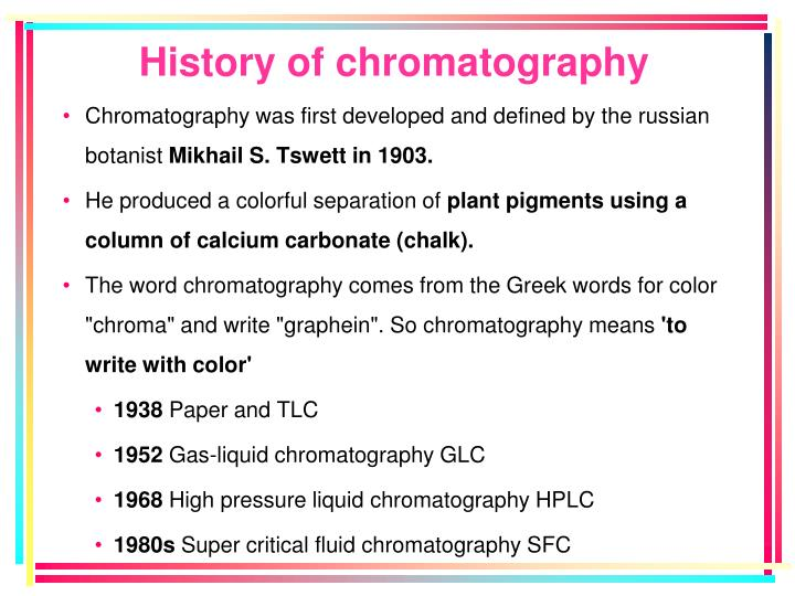 History of chromatography