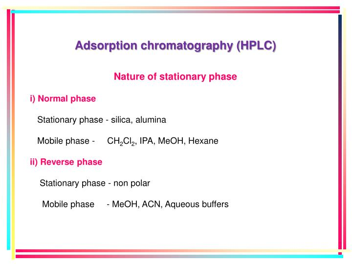 Adsorption chromatography (HPLC)