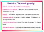 uses for chromatography1