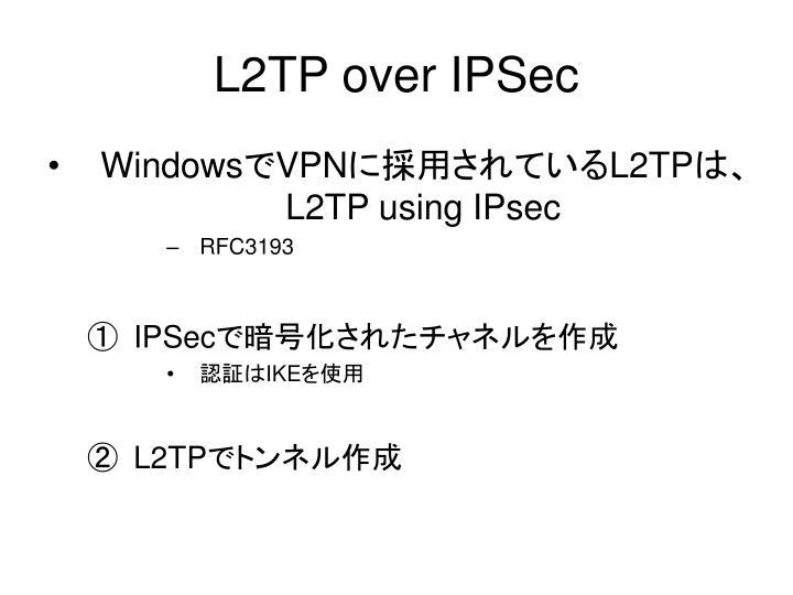 L2TP over IPSec