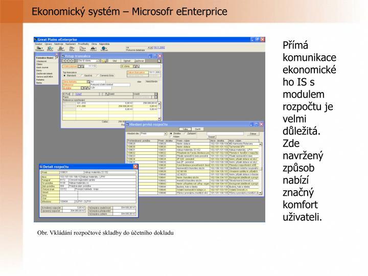 Ekonomický systém – Microsofr eEnterprice
