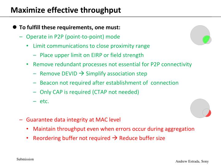 Maximize effective throughput
