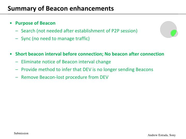 Summary of Beacon