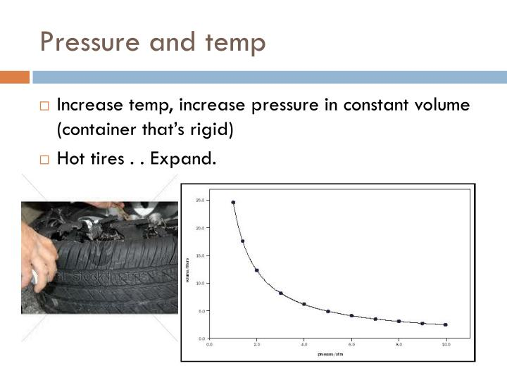 Pressure and temp