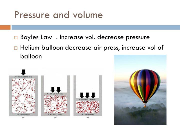 Pressure and volume