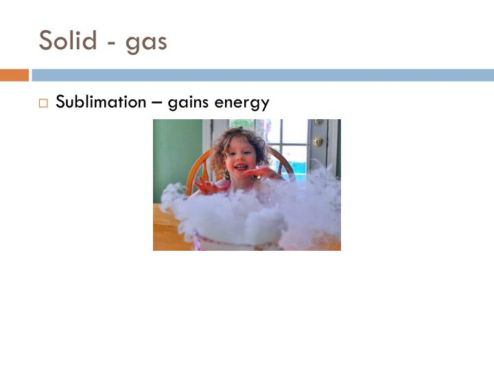 Solid - gas