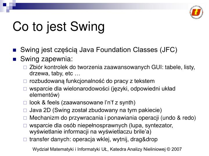 Co to jest Swing