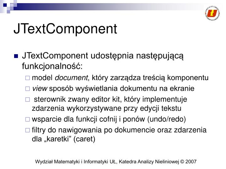 JTextComponent