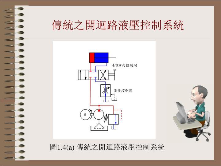 傳統之開迴路液壓控制系統