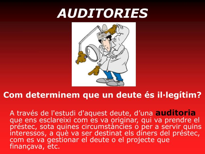 AUDITORIES