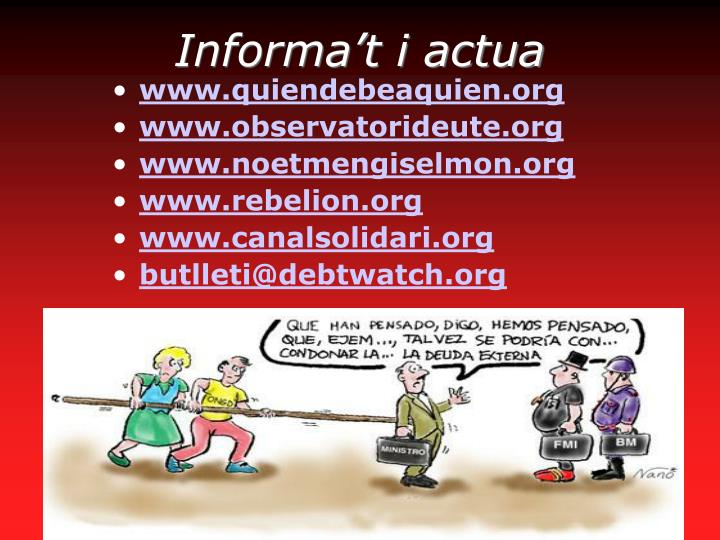 Informa't i actua