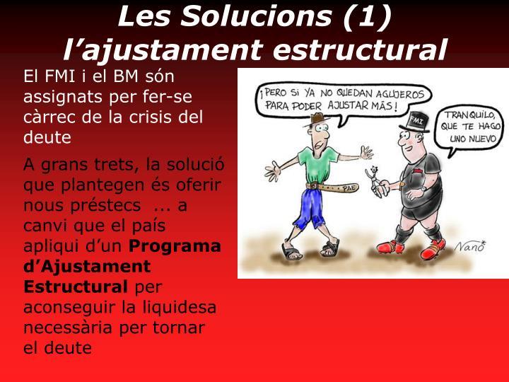 Les Solucions (1) l'ajustament estructural