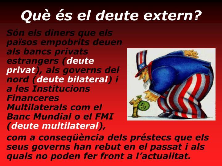 Què és el deute extern?