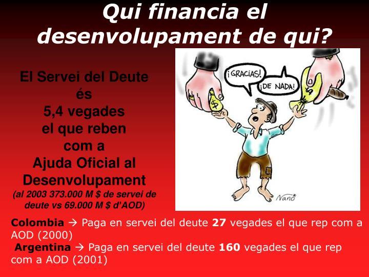 Qui financia el desenvolupament de qui?