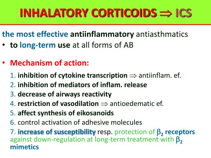 INHALATORY CORTICOIDS