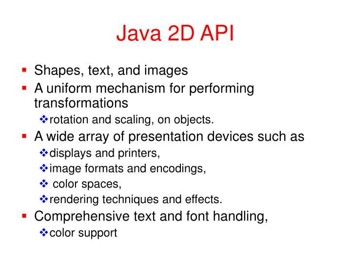 Java 2D API