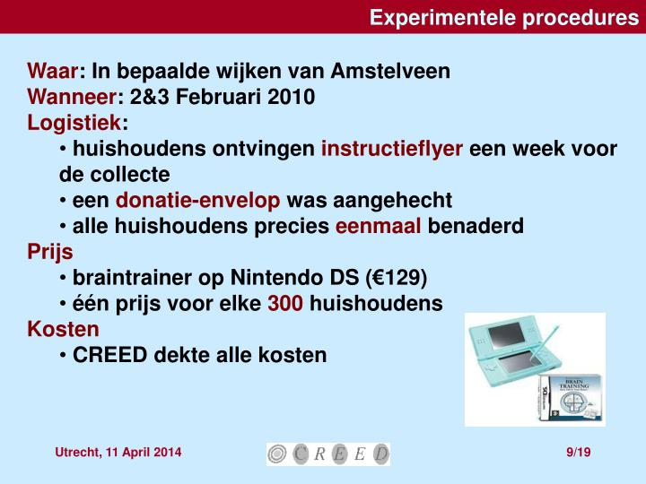 Experimentele procedures