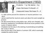 chadwick s experiment 1932