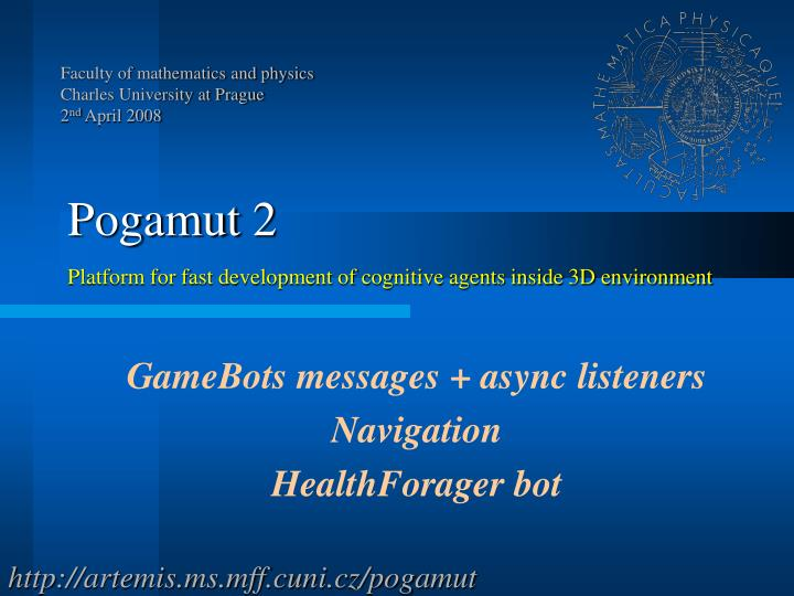 Gamebots messages async listeners navigation healthforager bot