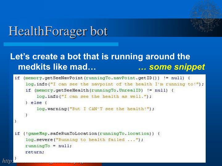 HealthForager bot