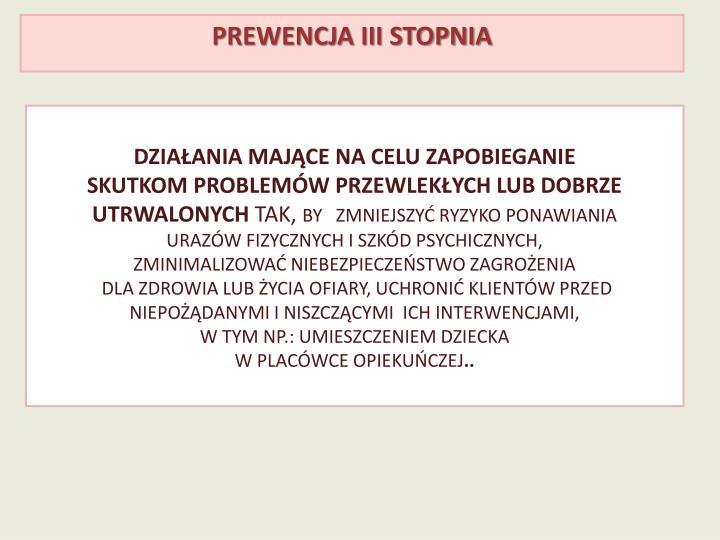 Prewencja III stopnia