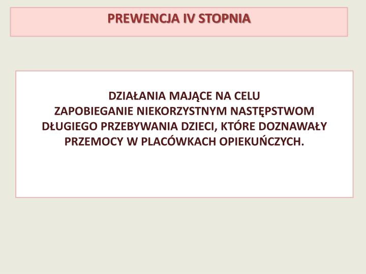 Prewencja IV stopnia