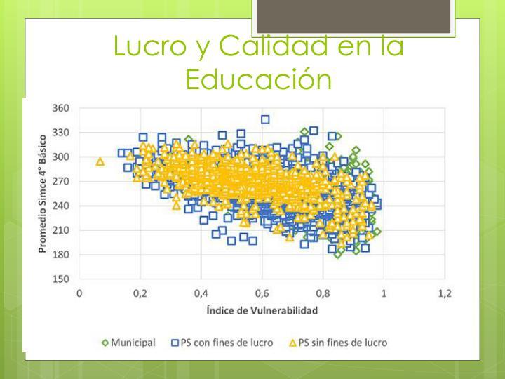 Lucro y Calidad en la Educación