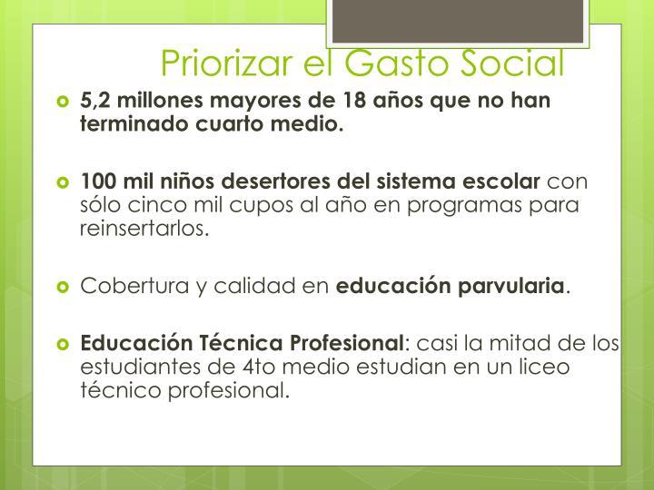 Priorizar el Gasto Social