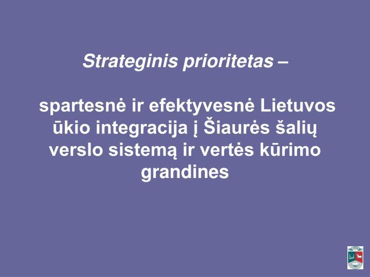Strateginis prioritetas