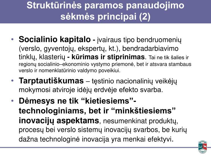 Struktūrinės paramos panaudojimo sėkmės principai (2)