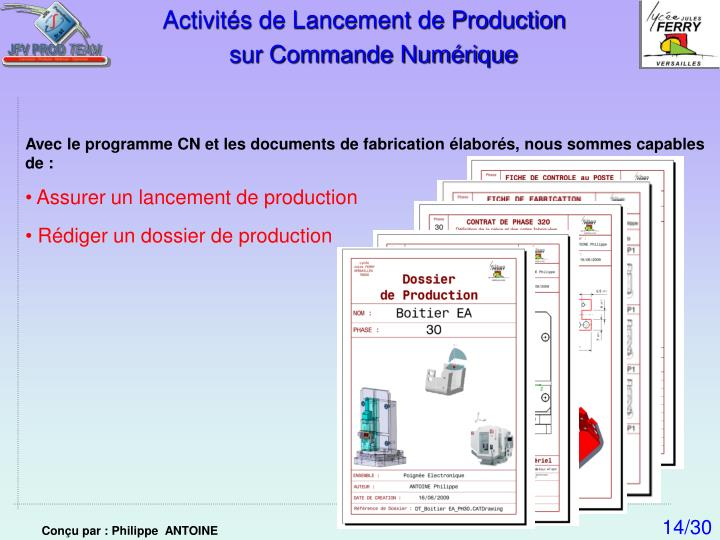 Activités de Lancement de Production