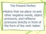 the present perfect17