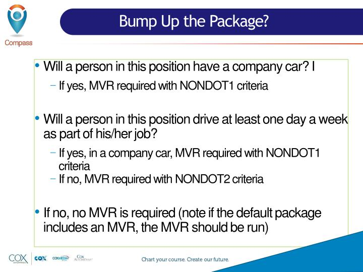 Bump Up the Package?