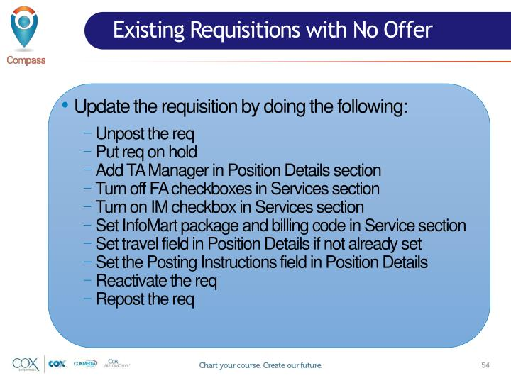 Existing Requisitions with No Offer