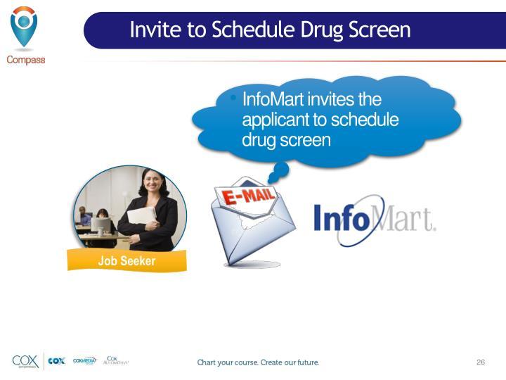 Invite to Schedule Drug Screen