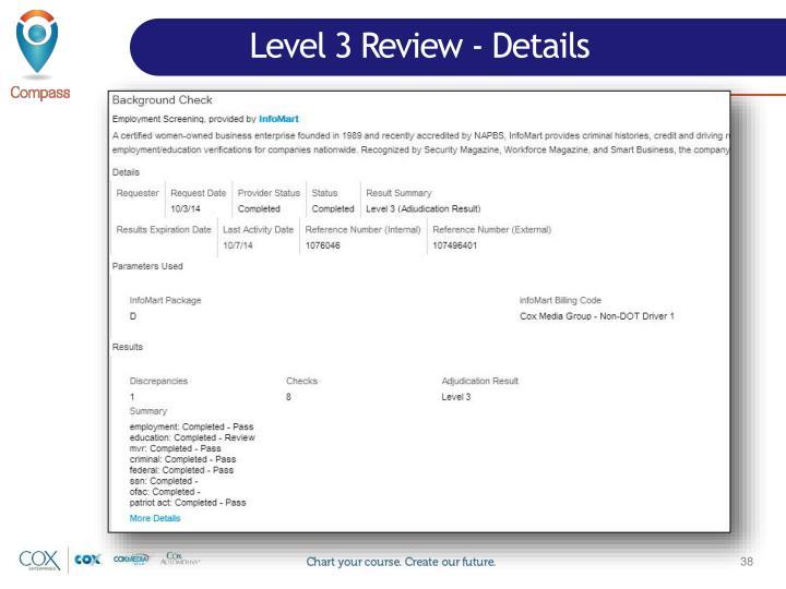 Level 3 Review - Details