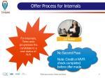 offer process for internals