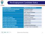 pre employment candidate status