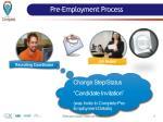 pre employment process