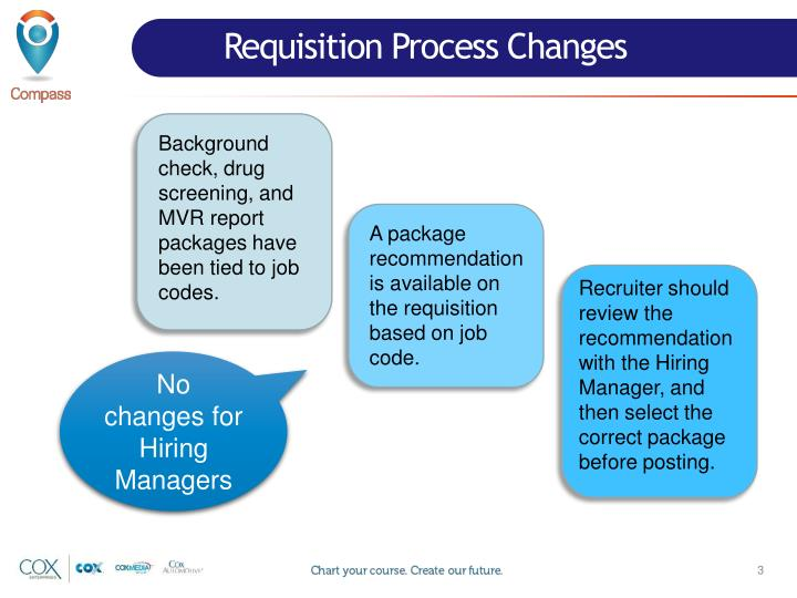 Requisition Process Changes