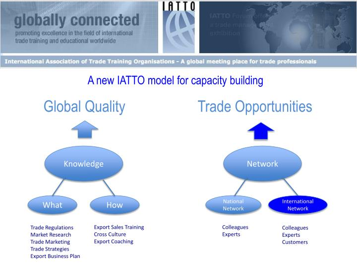 A new IATTO model for capacity building