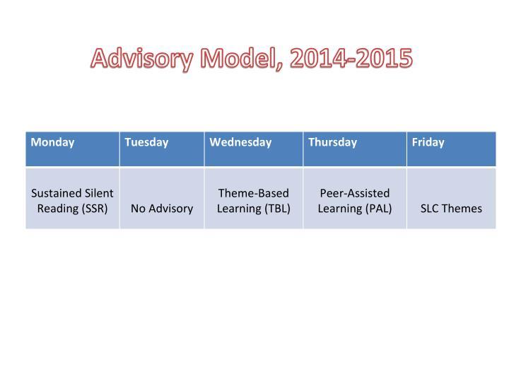 Advisory Model, 2014-2015